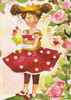 Art illustration from children's story books: Pretty Queen