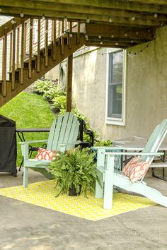 Small Deck Decorating Ideas: Our Deck Tour - unOriginal Mom Deck Seating, Outdoor Seating, Outdoor Spaces, Outdoor Living, Outdoor Decor, Seating Areas, Outdoor Kitchens, Patio Under Decks, Small Patio