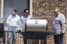 Feeding the co-workers with our Dyna-Glo Charcoal Grill! #KeepOnGrillin'! #GHPGroupInc #Dyna_Glo #Summer #Grilling