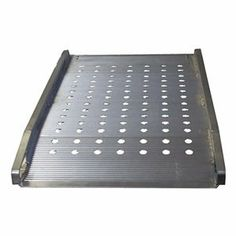Alum Walk Ramp, Apron End, 2000Lb, W38In by B & P Manufacturing. $704.63. Aluminum Walk Ramp, Apron End, Load Capacity 2000 Lb., Service Range 6 to 23 In., Overall Length 6 Ft., Overall Width 38 In., Nonskid Surface, Unique punched design allows debris to fall through providing better traction in adverse conditions, Max. Service Height 23 In., 3 3/4 In RestrictionsNote: Ramps are designed for use with hand trucks. Do not use with powered equipment or pallet jacks. Alumi...