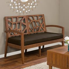 Baxton Studio Jennifer Loveseat - Hints of Danish modern design and natural Mission style combine to create the Baxton Studio Jennifer Loveseat . This loveseat features a dramatic cut-out...