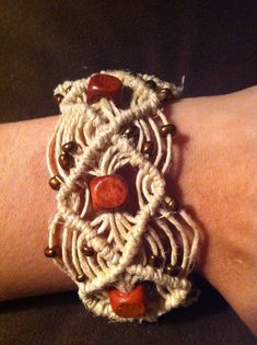 UNIQUE HEMP JEWELRY- Diamond hemp cuff bracelet