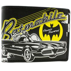The unique Wallet Batman Batmobile Car Old Comics Retro Vintage   -