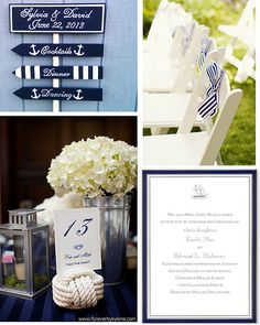 #Nautical #Wedding … Wedding #ideas for brides, grooms, parents & planners https://itunes.apple.com/us/app/the-gold-wedding-planner/id498112599?ls=1=8 … plus how to organise an entire wedding, within ANY budget ♥ The Gold Wedding Planner iPhone #App ♥  http://pinterest.com/groomsandbrides/boards/  For more #Wedding #Ideas & #Budget #Options, #Preppy #Wedding, #Beach #Wedding, #Blue #Navy #White