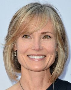 medium hairstyles over 50 - bob hairstyle with fringe for women over 50 | trendy-hairstyles-for-women.com