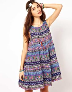ASOS | ASOS Swing Dress In Paisley Print at ASOS