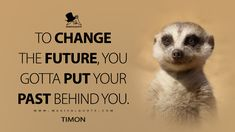 Timon: To change the future, you gotta put your past behind you. #Timon #TheLionKing #TheLionKingMovie #TheLionKing2019 #TheLionKingQuotes Kings Movie, Most Famous Quotes, King Quotes, Movie Quotes, Past, Lion, Inspirational Quotes, Change, Future