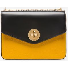 Bally B TURN MINIBAG MEDIUM Women's grained goat leather shoulder bag... ($935) ❤ liked on Polyvore featuring bags, handbags, shoulder bags, purses, bally handbags, chain-strap handbags, goat leather purse, bally purse and chain strap shoulder bag