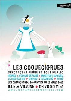 Marque Bretagne / Festival Les Coquecigrues (Association Mon oncle et Ma nièce) / Affiche / 2015