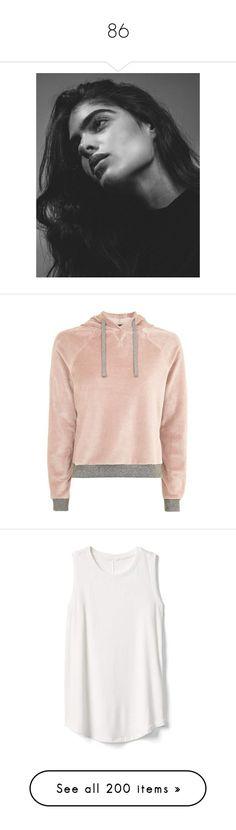 """86"" by pocahaunted666 ❤ liked on Polyvore featuring tops, hoodies, sweaters, outerwear, sweatshirt, elastic waist tops, velour hoodie, topshop tops, hooded sweatshirt and velour hoodies"