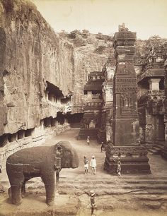 Ellora caves. Kailash temple. India.