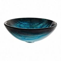 Inspired by the peaks of a glacier, the Ladon Glass Vessel Sink features a layered pattern and crisp ice-blue tones that create maximum visual impact in a modern bathroom. Each tempered glass Nature Series Glass Bathroom Sink, Modern Bathroom Sink, Glass Sink, Steam Showers Bathroom, Bathroom Design Small, Bathroom Wall Decor, Bathroom Ideas, Lavatory Sink, Glass Vessel Sinks
