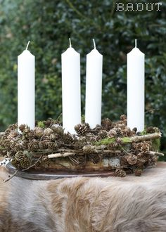 Naturlig adventskrans