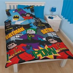 dc #comics #batman shadow kids single duvet quilt cover #bedding