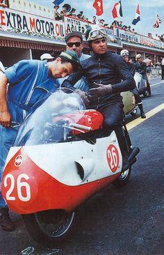 Liberto Liberati on his Gilera • 1957