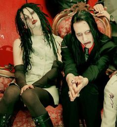 Twiggy Ramirez and Marilyn Manson (Jeordie White and Brian Warner)