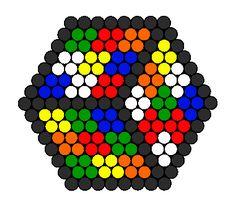 3d Rubiks Cube Illusion bead pattern