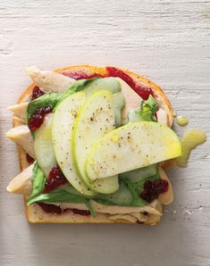 Turkey Sandwich with Cheddar, Apple, and Cranberry