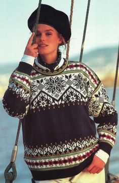 Dale Garn (formerly Dale of Norway) - - Barcelona Fair Isle Knitting Patterns, Sweater Knitting Patterns, Knitting Yarn, Knit Patterns, Crochet Wool, Knitwear, Norwegian Knitting Designs, Knits, Lillehammer