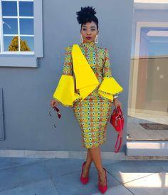 100 Latest Ankara Style Designs For 2020 (Updated) Ankara Styles For Women, Ankara Gown Styles, Ankara Gowns, Latest Ankara Styles, Ankara Skirt, Ankara Blouse, Dress Styles, African Attire, African Fashion Dresses