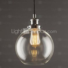 Max 60W Traditional/Classic / Vintage / Retro / Country / Globe Pendant Lights Living Room / Bedroom / Dining Room 4886424 2016 – $64.99