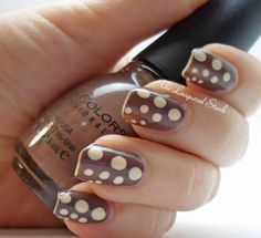 Sinful Colors Nirvana and Fresh Paint Coconut to create a fawn pattern