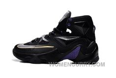 online retailer dcfc3 7ae75 Online Cheap Nike LeBron 13 Black And Purple Gold. Jordan Shoes For WomenAir  ...