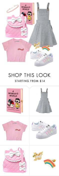 """""""The Child in Me"""" by stilldiscovering ❤ liked on Polyvore featuring Olympia Le-Tan, adidas Originals, Sugarbaby, Yellow Owl Workshop and Miss Selfridge"""