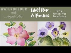 Part 3 Wild Roses in Watercolour with Angela Fehr: Wet in Wet Roses - YouTube