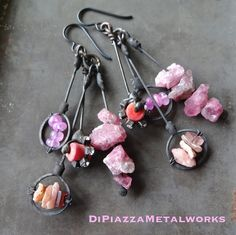 Pink clusters by DiPiazzaMetalworks on Etsy