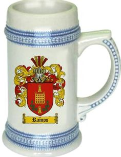 Ramos Coat of Arms / Family Crest stein mug - $21.99