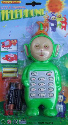 This 'Teletubby' telephone has seen some serious shit. | 17 Toys Designed By People Who Hate Children