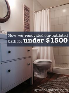 bathroom remodel upwardmarchcom learn how we completely gutted and remodeled our outdated lower