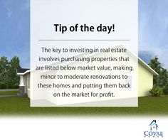 Perfect Property #Tip!  #CovalHomes #CustomHomes #HomeBuyingTips