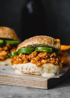 Healthy turkey sloppy joes with an easy homemade sauce made with ingredients you probably already have in your cupboard. Everyone loves this recipe because it can also be made in the slow cooker and doubled... or tripled for a crowd.
