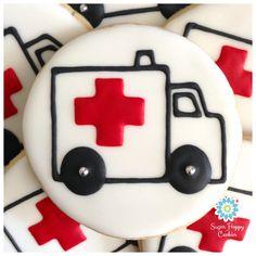 Sugar Cookie Emergency! Ambulance cookies