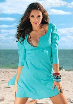 Пляжная туника цвета морской волны 2013