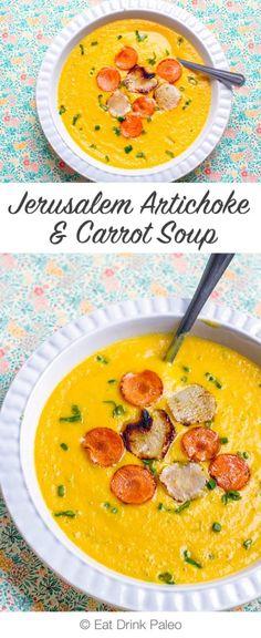 Jerusalem Artichoke & Carrot Soup - dairy-free, paleo, gluten-free, vegan friendly