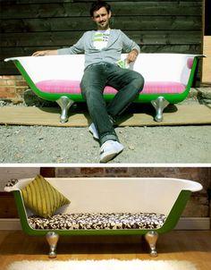 Recycling Ideas Turning | ... decora. Una bañera convertida en sofá | Mil Ideas de Decoración