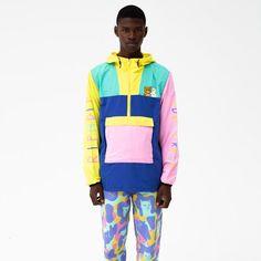 Colourful Outfits, Retro Outfits, Casual Outfits, Unisex Fashion, Urban Fashion, Kids Sportswear, Cyberpunk Fashion, Anorak Jacket, Hip Hop Fashion