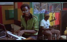 Earl 'Wya' Lindo (organ) and 'Sticky' Thompson (percussion) at Harry J Studio (From Theodoros Bafaloukos' film Rockers)