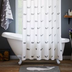 Whale Shower Curtain by West Elm   Apartminty Fresh Picks: Take A Walk On The Wild Side