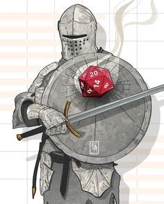 D&D d20 Knight strike