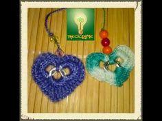 Coraz♥n 2 anillas de lata ♥ - YouTube Pop Tab Purse, Soda Tab Crafts, Soda Tabs, Crochet Videos, Diy Hairstyles, Diy Tutorial, Hair Pins, Crochet Top, Crochet Earrings