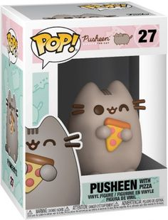 Pusheen with Pizza Vinylfiguur 27 Funk Pop, Disney Pop, Disney Pixar, Funko Pop Display, Armadura Cosplay, Funko Pop Anime, Pusheen Cute, Funko Pop Dolls, Pop Figurine