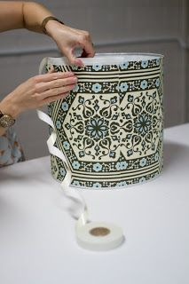 Upholstery Basics: How To Make A Lampshade via Design Sponge Make A Lampshade, Lampshades, Lampshade Ideas, Diy Projects To Try, Craft Projects, Home Crafts, Diy And Crafts, Lampshade Designs, Diy Bathroom