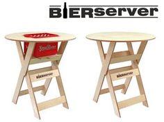 Geschenke für Männer - Stehtisch BIERSERVER mit Bierkastenfach - ein Designerstück von aufmoebeln24de bei DaWanda