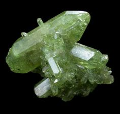 Green Vesuvianite Crystal Cluster - The Mineral and Gemstone Kingdom