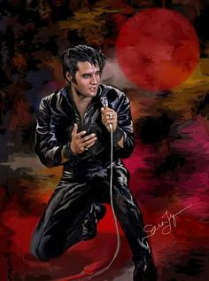 Elvis art by Sara Lynn Sanders.