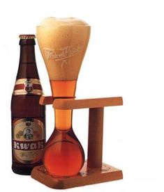 Kwak, belgian beer comes with the coolest beer glass ever.